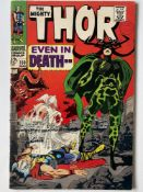 THOR # 150 (1968 - MARVEL - Cents Copy with Pence Stamp) - Classic 'Hela' cover with Wrecker,