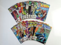 UNCANNY X-MEN LOT (Group of 22) - (MARVEL Cents/Pence Copy) - To include UNCANNY X-MEN (1987/90) #