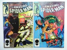 AMAZING SPIDER-MAN # 256 & 257 (Group of 2) - (1984 - MARVEL - Cents/Pence Copy) - First & Second