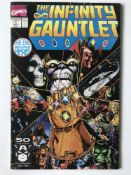 INFINITY GAUNTLET # 1 (1991 - MARVEL - Cents/Pence Copy) - Thanos appearance - Jim Starlin story