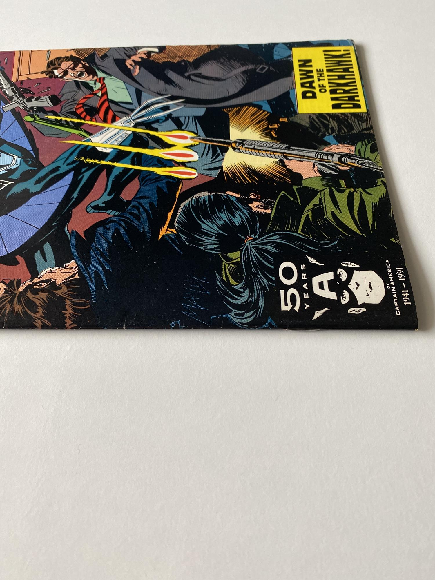Lot 11 - DARKHAWK # 1 - (1991 - MARVEL - Cents/Pence Copy) - Origin and first appearance of Darkhawk +