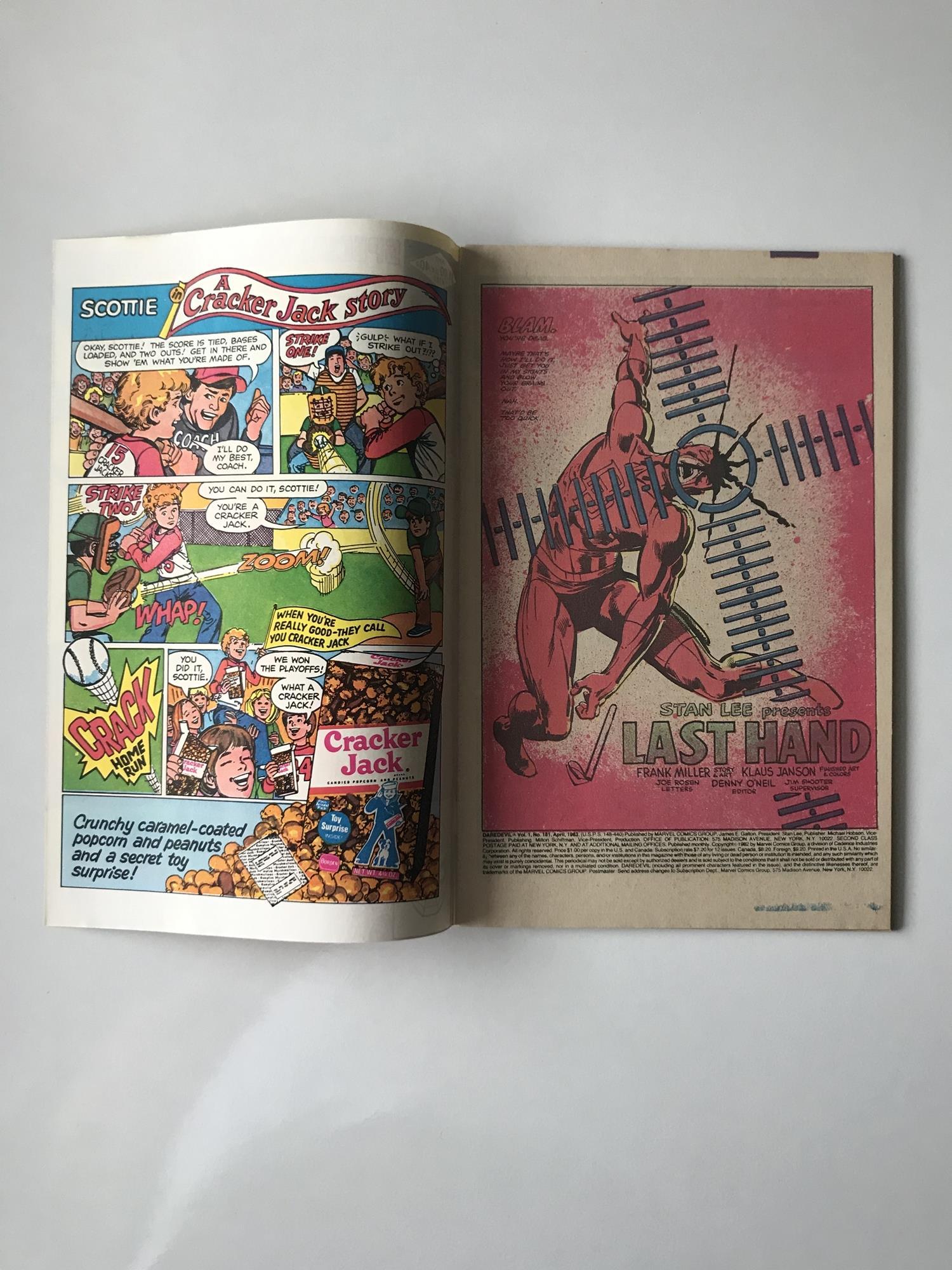 Lot 36 - DAREDEVIL # 181 (1982 - MARVEL - Cents/Pence Copy) - 'Death' of Elektra + Appearances by Bullseye,