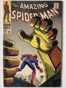 AMAZING SPIDER-MAN # 67 (1968 - MARVEL - Cents Copy) - Spider-Man battles Mysterio + First