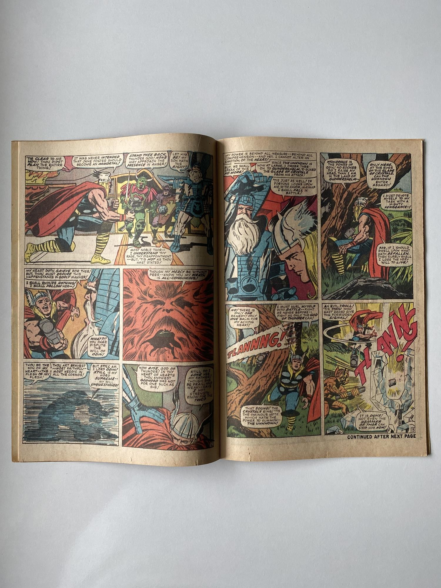 Lot 19 - THOR # 136 (1967 - MARVEL - Pence Copy) - Second appearance of Lady Sif - Jack Kirby cover and