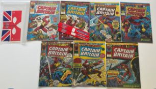 CAPTAIN BRITAIN # 1, 2, 3, 4, 5, 6, 7 (Group of 7) - (1976 - BRITISH MARVEL Pence Copy) - First