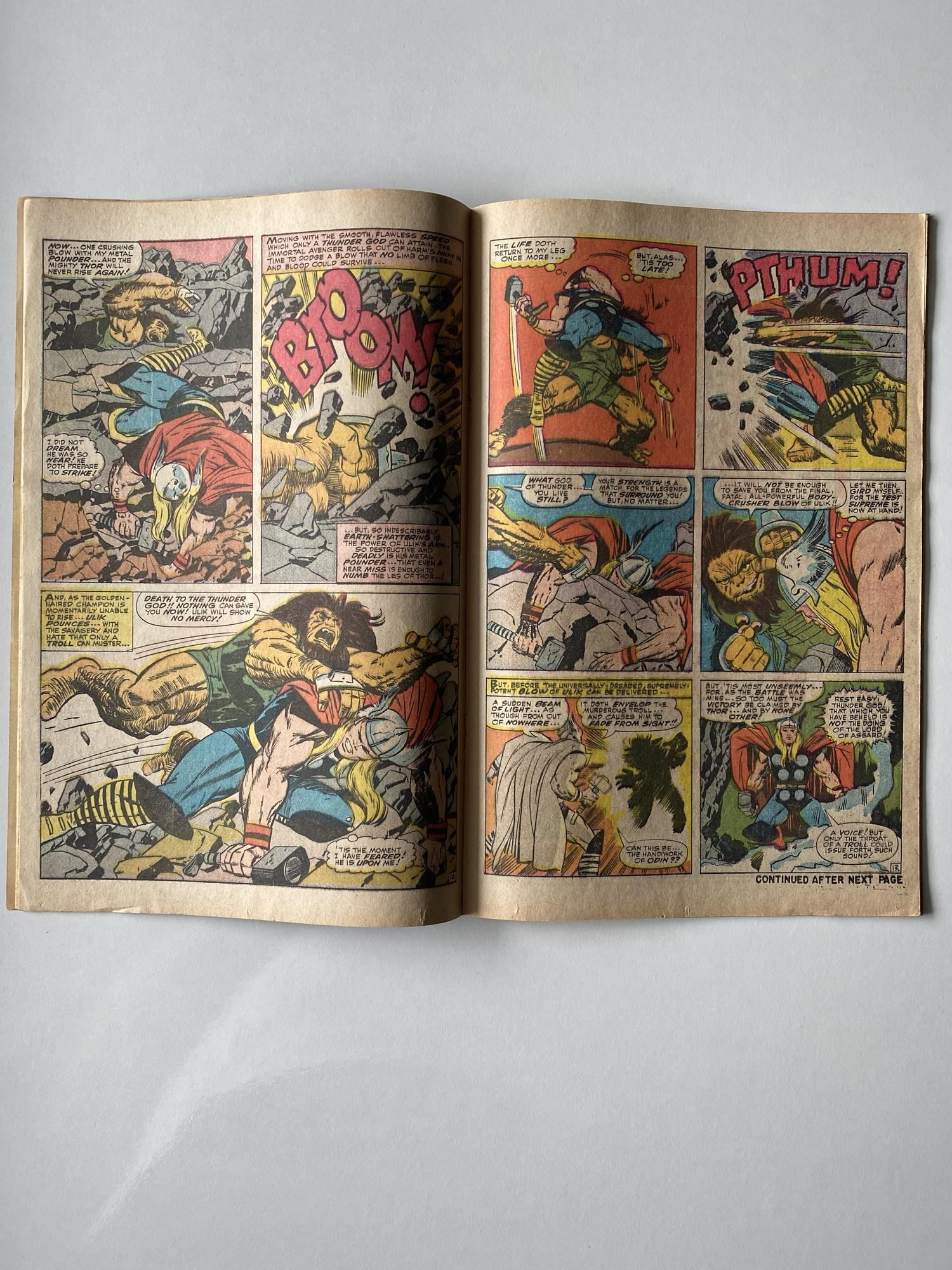Lot 20 - THOR # 137 (1967 - MARVEL - Pence Copy) - First appearance of ULIK - Jack Kirby cover and interior