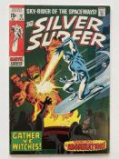 SILVER SURFER # 12 - (1970 - MARVEL - Cents Copy) - Silver Surfer battles the Abomination - John