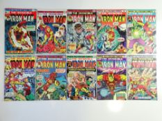IRON MAN # 71, 73, 74, 75, 76, 77, 78, 79, 80, 81 (10 in Lot) - (1974/75 - MARVEL Pence Copy) -