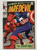 DAREDEVIL # 43 (1968 - MARVEL - Cents Copy) - Classic Jack Kirby cover as Daredevil battles