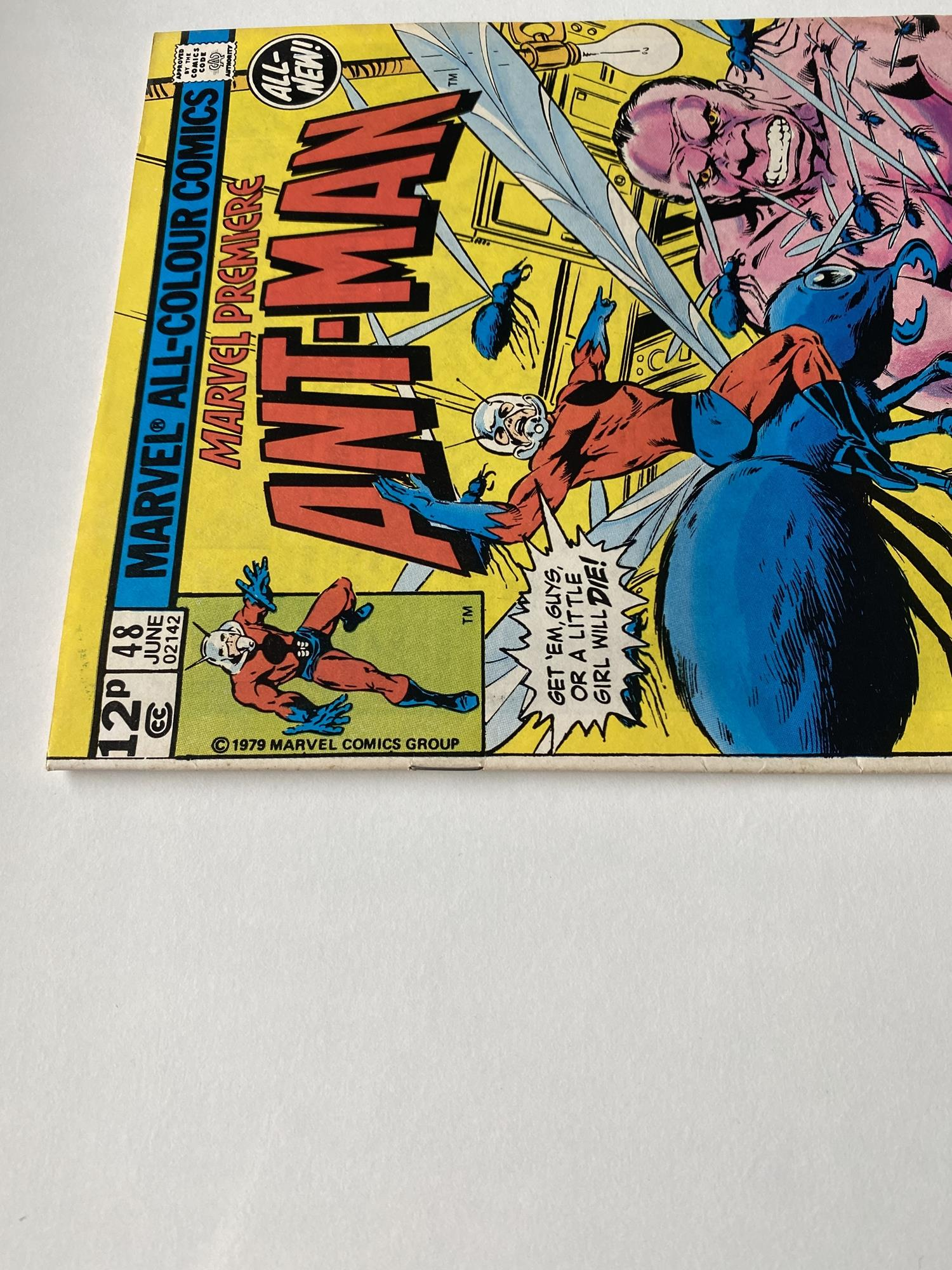 Lot 31 - MARVEL PREMIERE: ANT-MAN # 48 (1979 - MARVEL - Pence Copy) - Second appearance Ant-Man II (Scott
