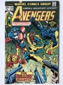 AVENGERS # 144 (1976 - MARVEL - Cents Copy) - Origin and first appearance of Hellcat (Patsy Walker