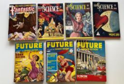 FANTASTIC ADVENTURES, SUPER SCIENCE, FUTURE LOT (Group of 7) - (Pence Copy) - Lot includes FANTASTIC