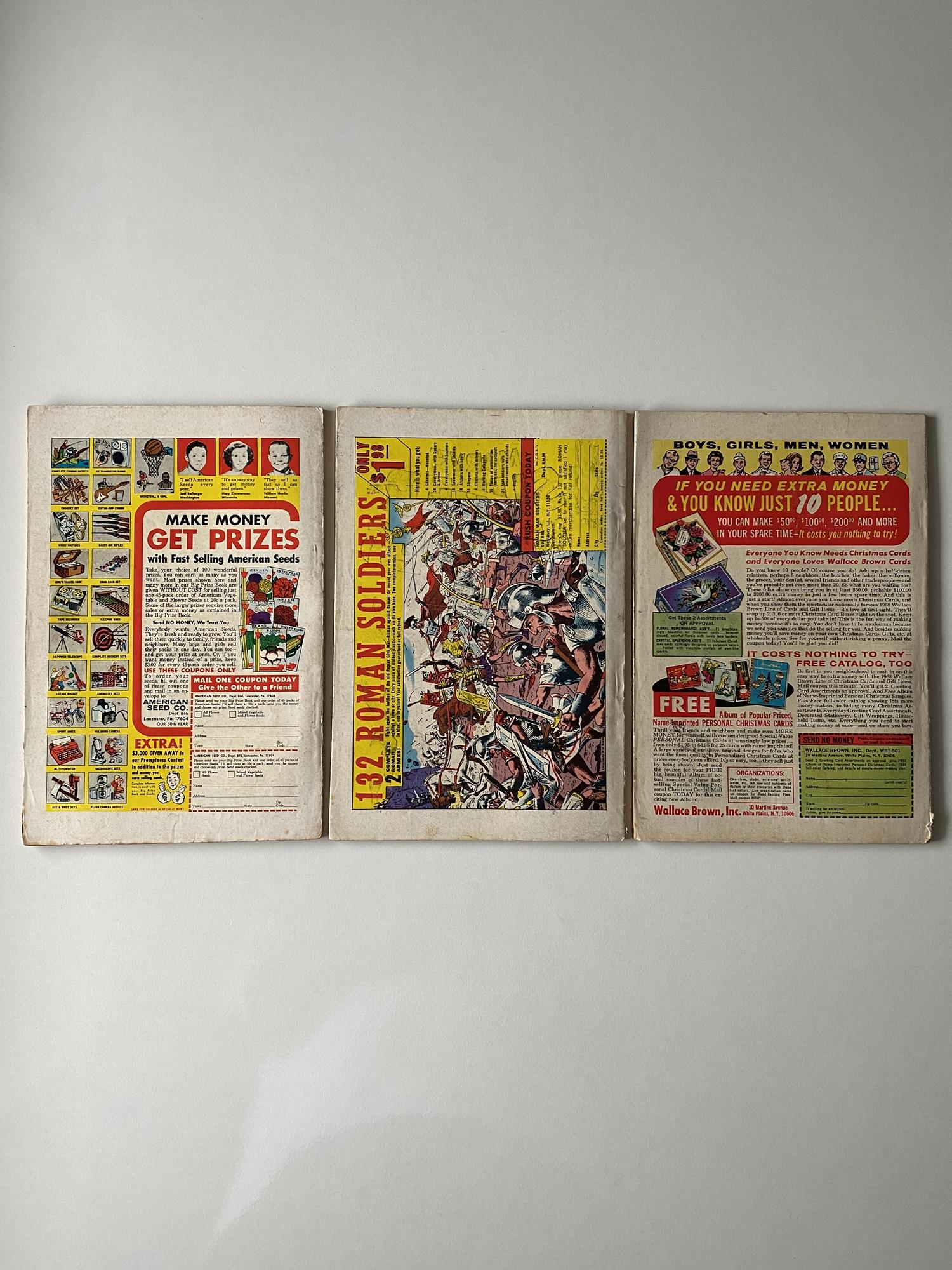 Lot 9 - MARVEL SUPER HEROES # 14, 15, 16 (Group of 3) - (1968 - MARVEL - Cents Copy with Pence Stamp) -