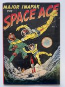 MAJOR INAPAK: SPACE ACE # 1 - (1951 - INAPAK CENTS Copy) - Cover and interior art by Bob Powell -