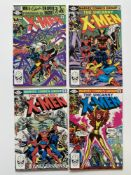 UNCANNY X-MEN # 154, 155, 156, 157 (Group of 4) - (1982 - MARVEL Cents/Pence Copy) - Origins of