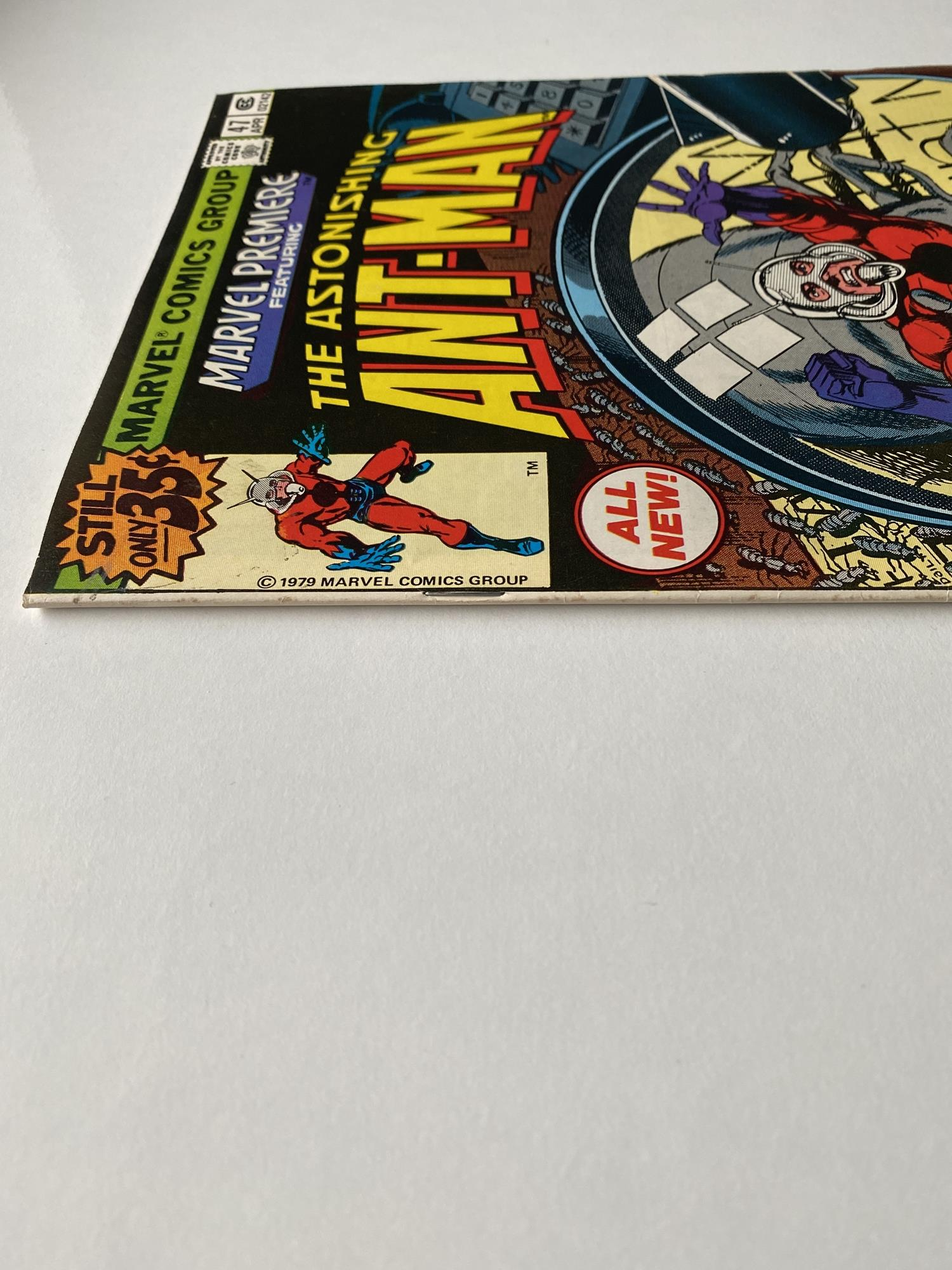 Lot 32 - MARVEL PREMIERE: ANT-MAN # 47 (1979 - MARVEL - Cents Copy) - First appearance of 'Movie' Ant-Man