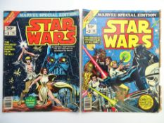 STAR WARS: MARVEL TREASURY EDITION # 1 & 2 (Group of 2) - (1977 - MARVEL - Pence Copy) - Full colour