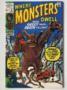 WHERE MONSTERS DWELL # 6 (GROOT) - (1970 - MARVEL - Pence Copy) - First reprint appearance of