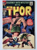 THOR # 124 (1968 - MARVEL - Pence Copy) - Hercules cover + Thor reveals his secret identity to