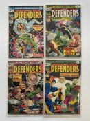 DEFENDERS # 14, 15, 16, 17 (Group of 4) - (1974 - MARVEL Cents & Pence Copy) - Flat/Unfolded - a
