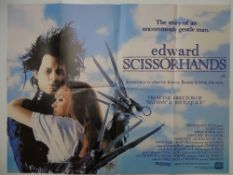 1990s / 2000s JOB LOT of mixed film posters: JOHNNY MNEMONIC / 23:58 / EDWARD SCISSORHANDS /