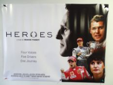 MOTOR RACING: A pair of posters to include HEROES (2020) UK Quad film poster and a commercial