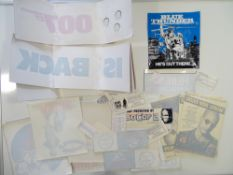 A quantity of movie memorabilia comprising mainly of window stickers for films including: JAMES