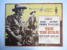 A selection of ten UK Quad WESTERN film posters to include: THE TIN STAR (1957), THE OUTCASTS OF