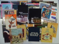 A large quantity of movie cinema brochures to include: STAR WARS, FIDDLER ON THE ROOF, THE SOUND