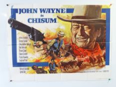CHISUM (1970) Tom Chantrell designed UK Quad film poster for the western starring JOHN WAYNE -