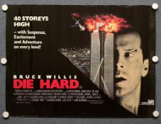 DIE HARD (1988) - British UK Quad - - Rolled (as issued)