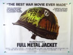 FULL METAL JACKET (1987) - STANLEY KUBRICK - British UK Quad film poster Rolled