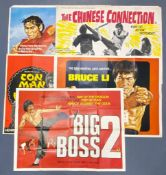 MARTIAL ARTS / KUNG FU LOT (5 in Lot) - Five (5) British UK Quads to include CHINESE CONNECTION (