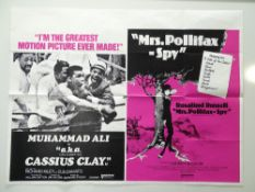 A group of double bill UK Quad film posters comprising: MOHAMMAD ALI AKA CASSIUS CLAY / MRS