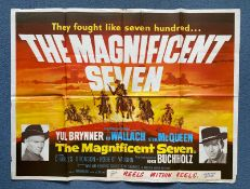 MAGNIFICENT SEVEN, THE (1964 Release) - British UK Quad - - Folded (as issued)