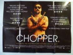 A group of three UK Quad film posters: CHOPPER (2000), ESSEX BOYS (2000) and MEAN MACHINE (2001) -