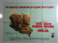 STEVE MCQUEEN: A pair of UK Quad film posters including PAPILLON (1974 - TOM JUNG art) and THE