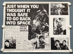 ALIENS (1986) - British UK Quad - 'Newspaper' style artwork - - Rolled (as issued)