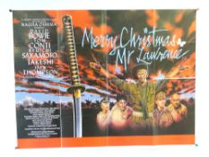 MERRY CHRISTMAS MR. LAWRENCE (1983) - British UK Quad film poster - DAVID BOWIE - Folded (as