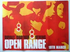 OPEN RANGE (2003) A pair of UK Quad Film Posters - Advance and Main designs - rolled as issued (2)