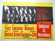 JUDGEMENT AT NUREMBERG (1961) UK Quad film poster for the military courtroom drama starring