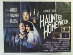 A large quantity of UK Quad film posters to include: HAUNTED HONEYMOON (1986), THE BLACK PANTHER (