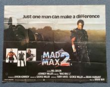 MAD MAX 2 (1982) - British UK Quad - Mel Gibson reprising his role as Max Rockatansky in this all-