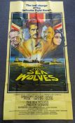 THE SEA WOLVES (1980) - UK three sheet film poster - bold artwork of Gregory Peck, Roger Moore and