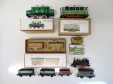 VINTAGE TOYS: A group of reproduction tinplate toy
