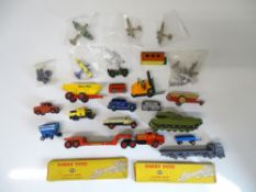 GENERAL DIECAST: A group of playworn diecast cars