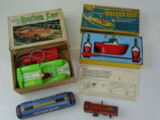 VINTAGE TOYS: A battery operated MARX racing car -