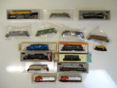 N SCALE MODEL RAILWAYS: A group of mostly American
