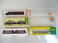 N SCALE MODEL RAILWAYS: A group of three diesel /