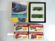 GENERAL DIECAST: A group of diecast 1:76 Scale bus